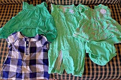 Lot of 5 Girl's Items of Clothing, Size 3-6 Months