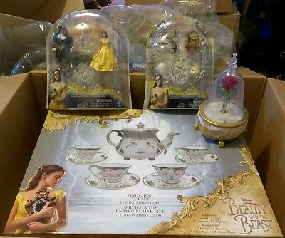 Disney Beauty and the Beast Live Fine China Tea Set 0514/2000! & Collectables