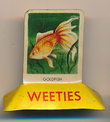 Weeties Tin Stand up Goldfish Cereal Toy