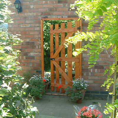 Garden Illusion Mirror Large Wood Gate Patio Ornaments Outdoor Decorations Gift