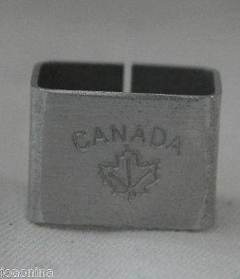 Late 1950 early 60 BOY SCOUTS CANADA ALUMINUM WOGGLE SCOUTING Necker Slider