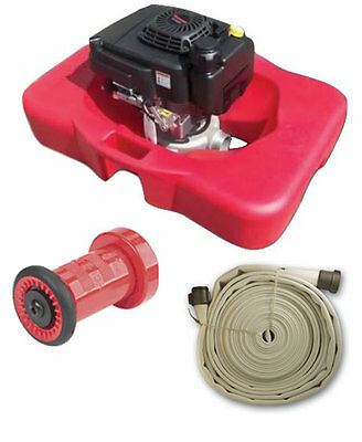 Floating Fire Pump and Hose System - Home Wildfire Protection for Swimming Pool