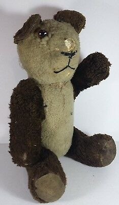 """Old Vintage Articulated Playworn Panda Bear Toy - 16"""" Tall Needs Repair"""