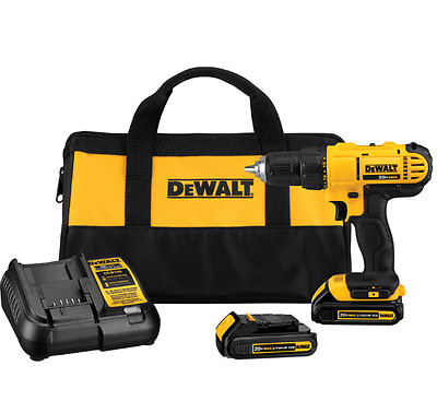 Cordless Compact Drill/Driver Kit DEWALT Lithium-Ion 20-Volt Max 1/2 in. Tool