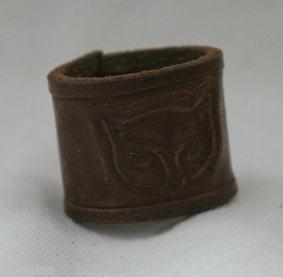 Late 1950s WOLF CUBS CANADA HANDMADE WOGGLE / NECKER / SLIDER boy scouts