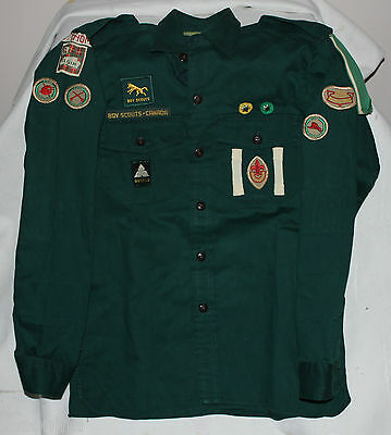 1957 VINTAGE 1st ST THOMAS BOY SCOUTS PATROL LEADER SHIRT CANADA MARKSMAN PATCH
