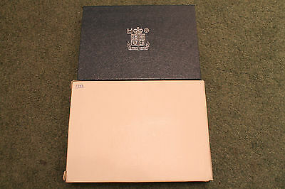 1983 Uk Coin Royal Mint Proof Set Great Britain + Ni 8 Coin Cased Collection