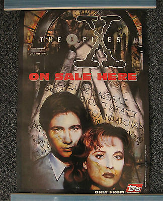 Original X-Files Topps Comics Promo Poster, David Duchovny, Gillian Anderson