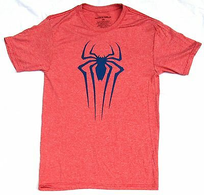 Polyester Heather Red The Amazing Spiderman Spider Logo T-Shirt Size Small