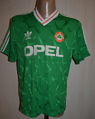 Republic Of Ireland 1990 World Cup Football Shirt Jersey Maglia Adidas Vintage