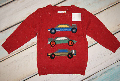 Next BNWT Boys Cars Pattern Jumper Size 12-18 Months