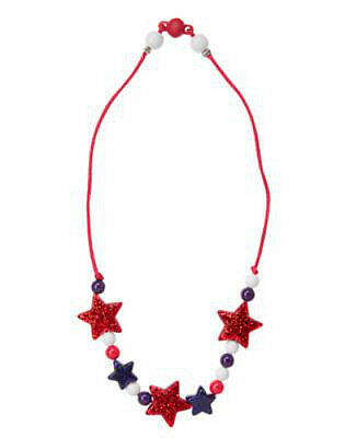 NWT Gymboree Girl RED WHITE & CUTE 4th of July Bead Necklace