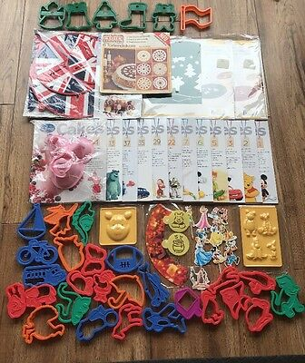Disney Cakes Sweets Magazine Extras Massive Bundle Cookie Cutters Mould Template