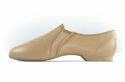 NEW Leather Split Sole Jazz Dance Shoes MDM MJ320 Protract Tan & Black