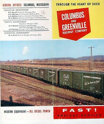 "Columbus&Greenville Ry Booklet""FAST! Freight Service-Through the heart of Dixie"""