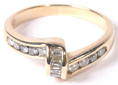 Stunning Diamond Band Style Estate Ring in 14k Yellow Gold