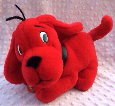 Clifford the Big Red Dog Plush Puppy 1997 Figure Scholastic Side Kicks PBS Toy 9