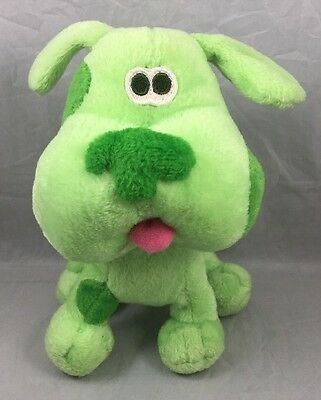 Green Puppy Blues Clues Lovey Plush Spotted Dog Soft Stuffed Animal Toy Rare 6.5