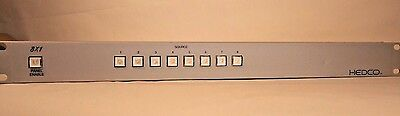 Hedco/Leitch Dual-Bus X-Y Controller 8x1 Video Switch Box *SHIPS FAST!*