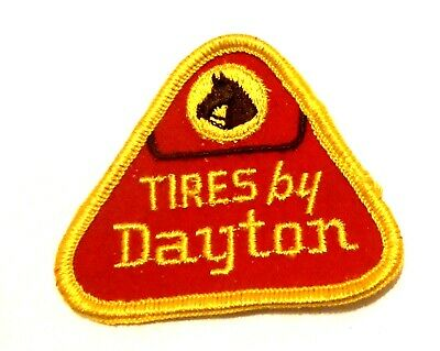 "Dayton Tire Embroidered Patch Vintage 2-3/4"" Horse"