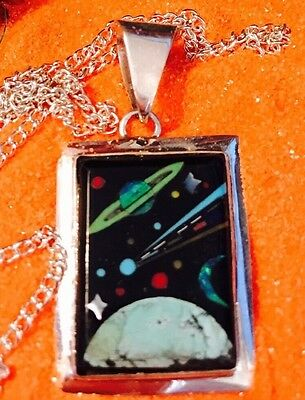 Native American MICRO INLAY Silver Pendant ,Zuni inlay  multiple stones
