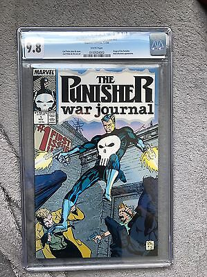 The Punisher War Journal 1 Cgc 9.8 White Pages