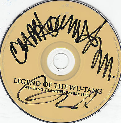 Wu Tang Clan Signed Legend Of Wu-Tang Greatest Hits Cd Gza Cappadonna Proof
