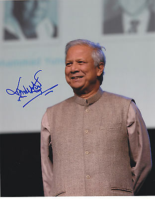 Muhammad Yunus SIGNED AUTOGRAPHED 8X10 PHOTO  NOBEL PEACE PRIZE  EXACT PROOF