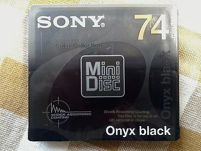 New SONY MD74 Blank Mini Disc 74 Minutes Recordable MDW74CRB Japan 1Disc