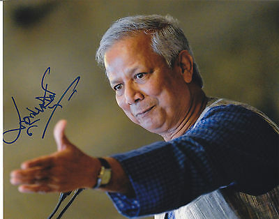 Muhammad Yunus SIGNED AUTOGRAPHED 8X10 PHOTO  NOBEL PEACE PRIZE  EXACT PROOF #3