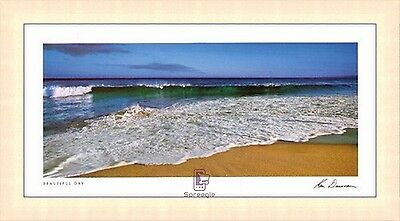 "KEN DUNCAN ""BEAUTIFUL DAY"" SHORELINE OVERSIZE PANORAMIC 890x1690mm PRINT FRAMED"
