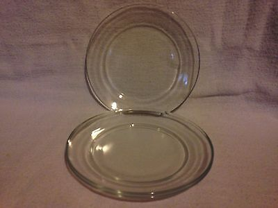 Arcoroc CLASSIQUE France 6 3/4 in. Bread Plates - Set of 3 - Clear - Excellent