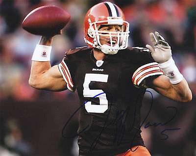 Jeff Garcia Signed Autographed Cleveland Browns 8X10 Photo Exact Proof