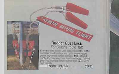 Cessna 150 and 152 Rudder Gust Lock