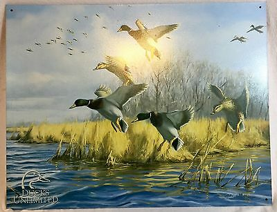 Ducks Unlimited As good as Home  Picture Tin Poster Sign.
