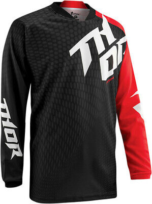 THOR Jersey S15  - PRIME SLASH BLACK/RED  LARGE   ****CLEAROUT***  2910-3367