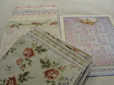 HEIRLOOM ROSE Embroidery Quilt Kit by Meg Hawkey Crabapple Hill