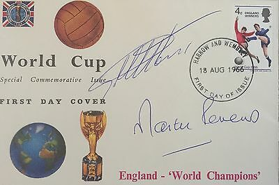 1966 World Cup First Day Cover Signed Geoff Hurst Martin Peters Fdc