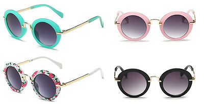 Kid Baby Holiday Sun Glasses Sunglasses With Case Round Eyeglasses Retro Vintage
