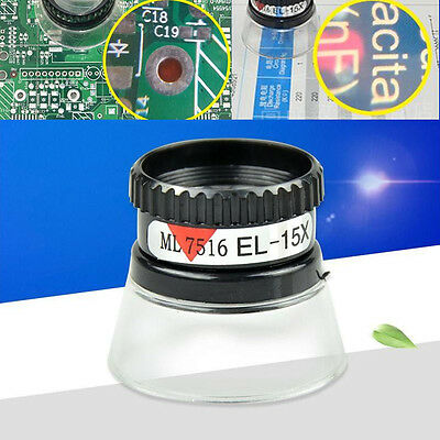 15X Monocular Magnifying Glass Loupe Lens Jeweler Tools Eye Magnifier Magnifying