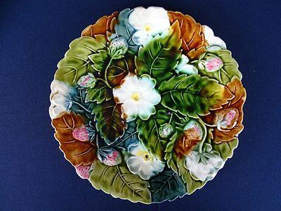 Assiette barbotine majolica onnaing st clément orchies nimy salin....