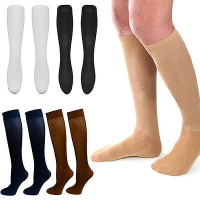 Men's Women's Anti-Fatigue Knee High Stockings Compression Support Socks Chic