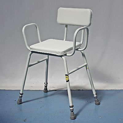 Perching Stool White Seat and Back