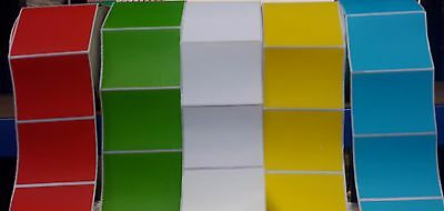 70 x 90 mm Thermal Transfer labels various colours  self adhesive  PLASTIC