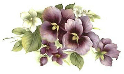 PReTTY PuRpLe PaNsieS SWaGs ShaBbY WaTerSLiDe DeCALs *ChiC*