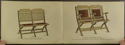 1893 Portable Seating Furniture Trade Catalog - New York, by Andrews-Demarest