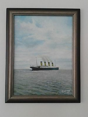 TITANIC Queenstown Original Oil Painting Fine Art Canvas Signed Framed