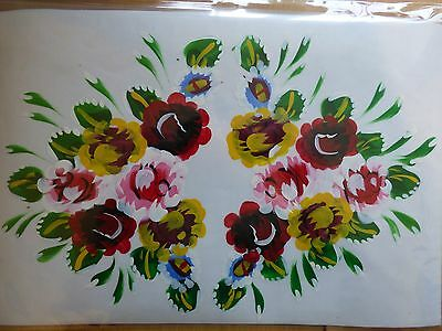 Hand Painted Roses Transfer Interior Exterior Barge Canal Narrow Boat Ware 2-02