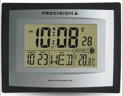 Radio Controlled Digital LCD Wall Desk Clock Date Temperature PREC0103/AP046