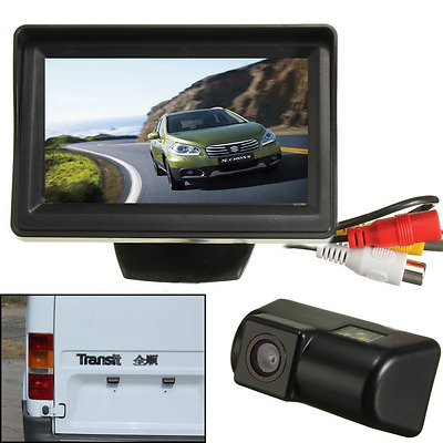 AUDEW Car Backup Camera CCD Monitor Reverse Rear-view Kit For Transit Connect 4.